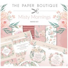 PB Misty Mornings Paper Kit 8x8 Paper Pad & Die Cut Toppers 300gsm