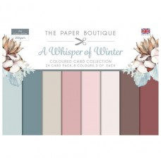 PB A Whisper of Winter Colour Card Collection A4 24 Sheet 8 Colours 200gsm