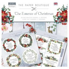 PB Essence of Christmas Paper Kit 8x8 Paper Pad & Die Cut Toppers 300gsm