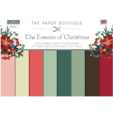 PB Essence of Christmas Colour Card Collection A4 24 Sheets 8 Colours 200gsm