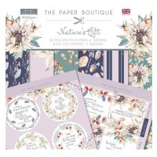 PB Nature's Gift Paper Kit 8x8 Paper Pad & Die Cut Toppers 300gsm