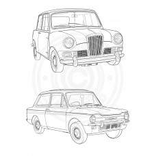 Picture This Stamps - Ye Olde Cars