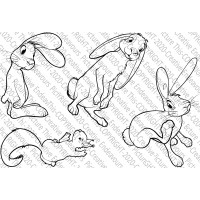 Picture This Stamps - 3 Bunnies and a Squirrel