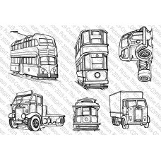 Picture This Stamps - Trucks 'n' Trams