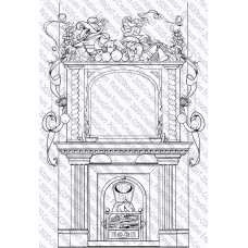 Picture This Stamps - Festive Fireplace