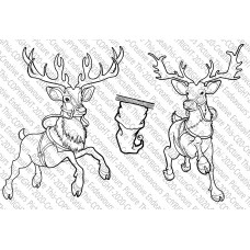 Picture This Stamps - Santa's Reindeer