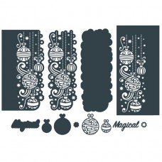 The Paper Boutique Border Die - Magical Baubles