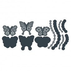The Paper Boutique Die - Floral Butterflies - Embellishments