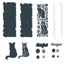 The Paper Boutique Border Die - Purrfect