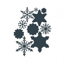 The Paper Boutique - Snowfall Embellishments