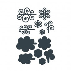 The Paper Boutique - Filigree Flourish Embellishments