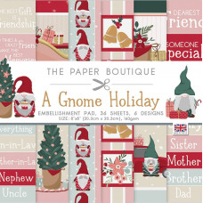 The Paper Boutique - A Gnome Holiday 8×8 Embellishments Pad