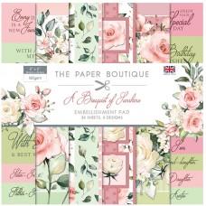 The Paper Boutique - A Bouquet of Sunshine 8x8 Embellishments Pad