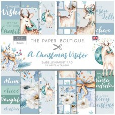 The Paper Boutique - A Christmas Visitor 8x8 Embellishments Pad