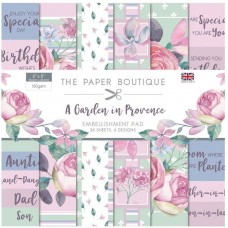 The Paper Boutique - A Garden in Provence 8x8 Embellishments Pad