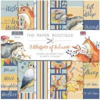 The Paper Boutique - A Whisper of Autumn 8x8 Embellishments Pad