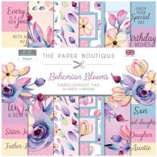 The Paper Boutique - Bohemian Blooms 8x8 Embellishment Pad
