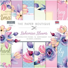 The Paper Boutique - Bohemian Blooms 8x8 Panels & Sentiments Pad