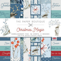 The Paper Boutique - Christmas Magic 8×8 Embellishments Pad