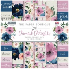 The Paper Boutique - Damask Delights 8×8 Embellishments Pad