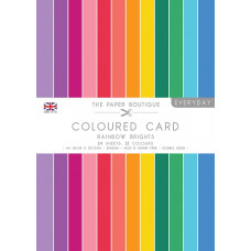 The Paper Boutique Everyday – Coloured Card – Rainbow Brights A4