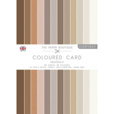 The Paper Boutique Everyday – Coloured Card – Neutrals A4
