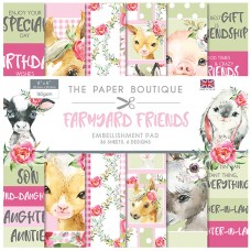 The Paper Boutique - Farmyard Friends 8x8 Embellishments Pad