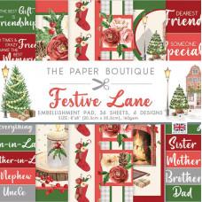 The Paper Boutique - Festive Lane 8×8 Embellishments Pad