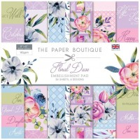 The Paper Boutique - Floral Daze - 8x8 Embellishments Pad