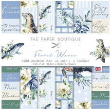 The Paper Boutique - Floral Waves 8×8 Embellishments Pad