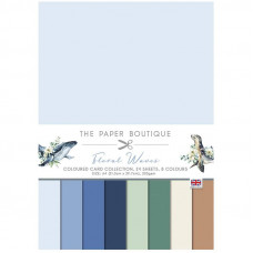 The Paper Boutique - Floral Waves Colour Card Collection