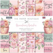 The Paper Boutique - Grandma's Garden 8x8 Embellishments Pad