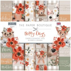 Paper Boutique - Happy Days 8x8 Embellishments Pad
