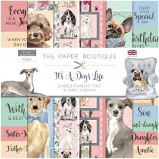 The Paper Boutique - It's a Dogs Life 8x8 Embellishments Pad