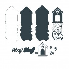 The Paper Boutique Border Die - Woof Woof