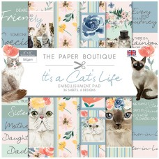 The Paper Boutique - It's a Cat's Life 8x8 Embellishments Pad