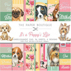 The Paper Boutique - It's a Puppy's Life 8 in x 8 in Embellishments Pad