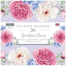 Paper Boutique Springtime Blooms 5x5 Sentiments Pad