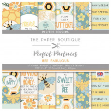 The Paper Boutique Perfect Partners – Bee Fabulous 8×8 Toppers