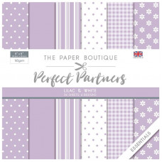 The Paper Boutique - Perfect Partners - Essentials 8×8 Lilac & White
