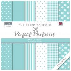 The Paper Boutique - Perfect Partners - Essentials 8×8 Mint & White