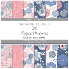 The Paper Boutique Perfect Partners – Ocean Blossoms 8×8 Pads