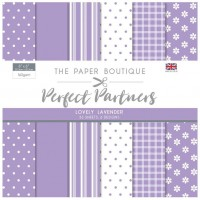 The Paper Boutique Perfect Partners 8x8 Paper Pad - Lovely Lavender