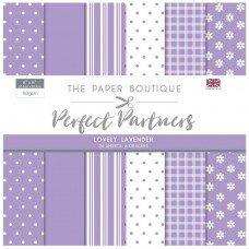 The Paper Boutique - Perfect Partners 8x8 Paper Pad - Lovely Lavender