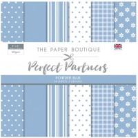 The Paper Boutique Perfect Partners 8x8 Paper Pad - Powder Blue