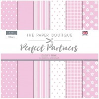The Paper Boutique Perfect Partners 8x8 Paper Pad - Dusky Pink