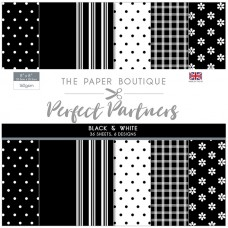 The Paper Boutique - Perfect Partners 8x8 Paper Pad - Black & White