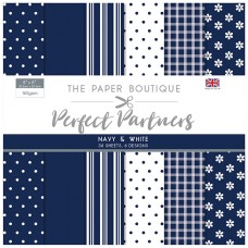 The Paper Boutique - Perfect Partners 8x8 Paper Pad - Navy & White