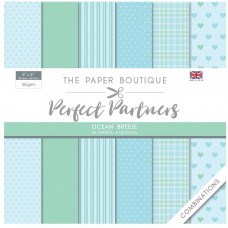 The Paper Boutique Perfect Partners 8×8 Paper Pad – Ocean Breeze