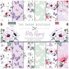 The Paper Boutique - Pretty Poppies 8x8 Paper Pad